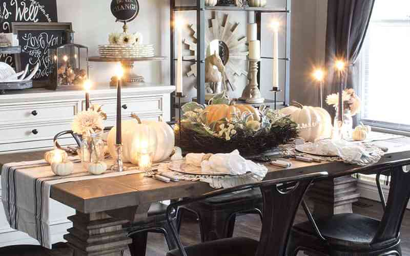 Home Decorating Ideas Fall Thanksgiving 13 Farmhouse Table To Help You Decorate Yours
