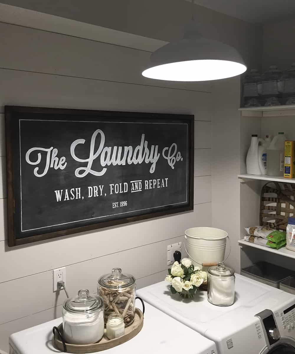 farmhouse laundry room light fixture