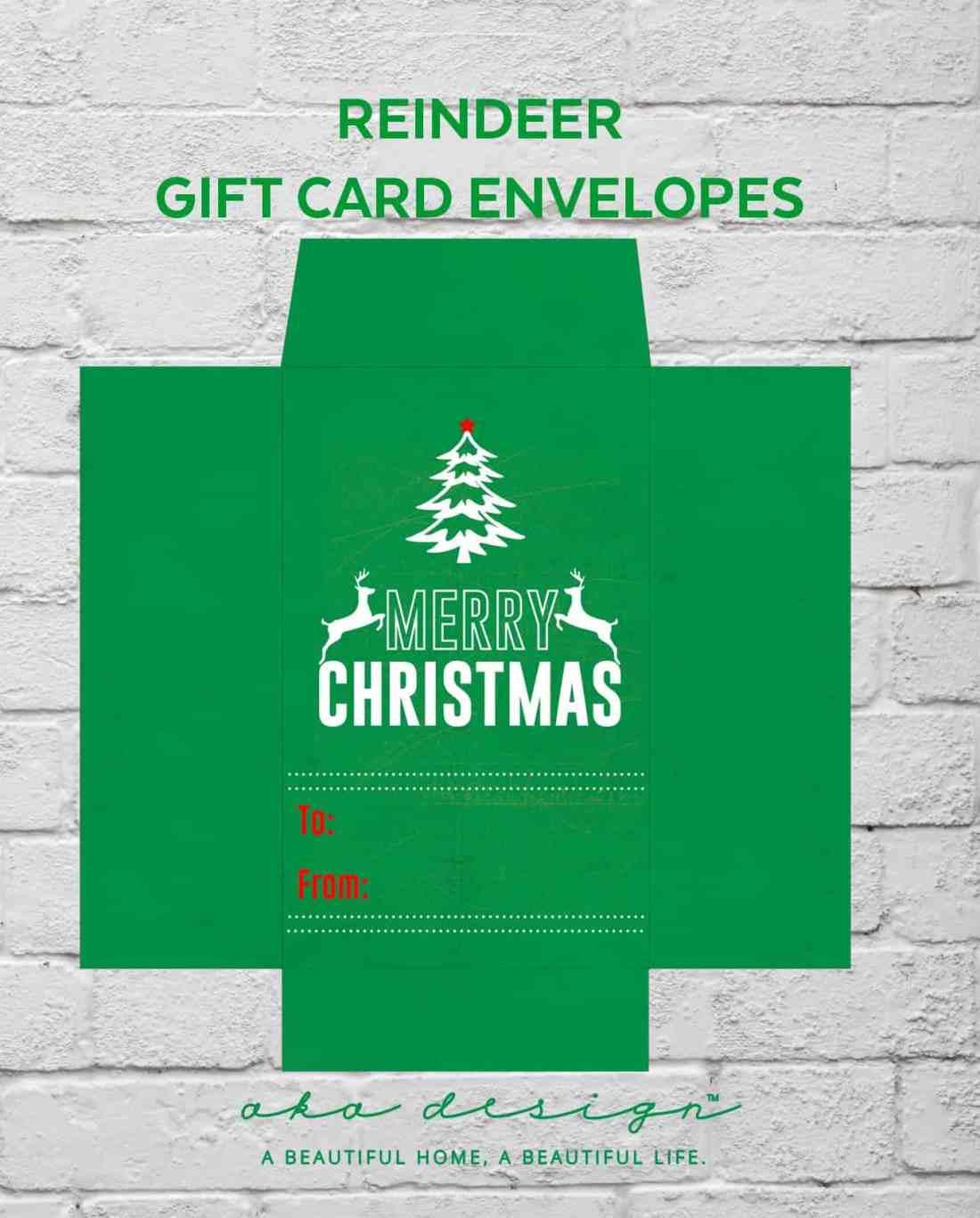 free printable gift card envelope