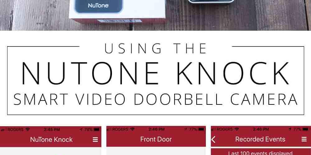Using the NuTone KNOCK Smart Video Doorbell Camera pin
