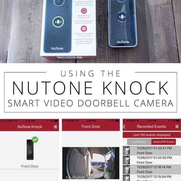 Using the NuTone KNOCK Smart Video Doorbell Camera pin