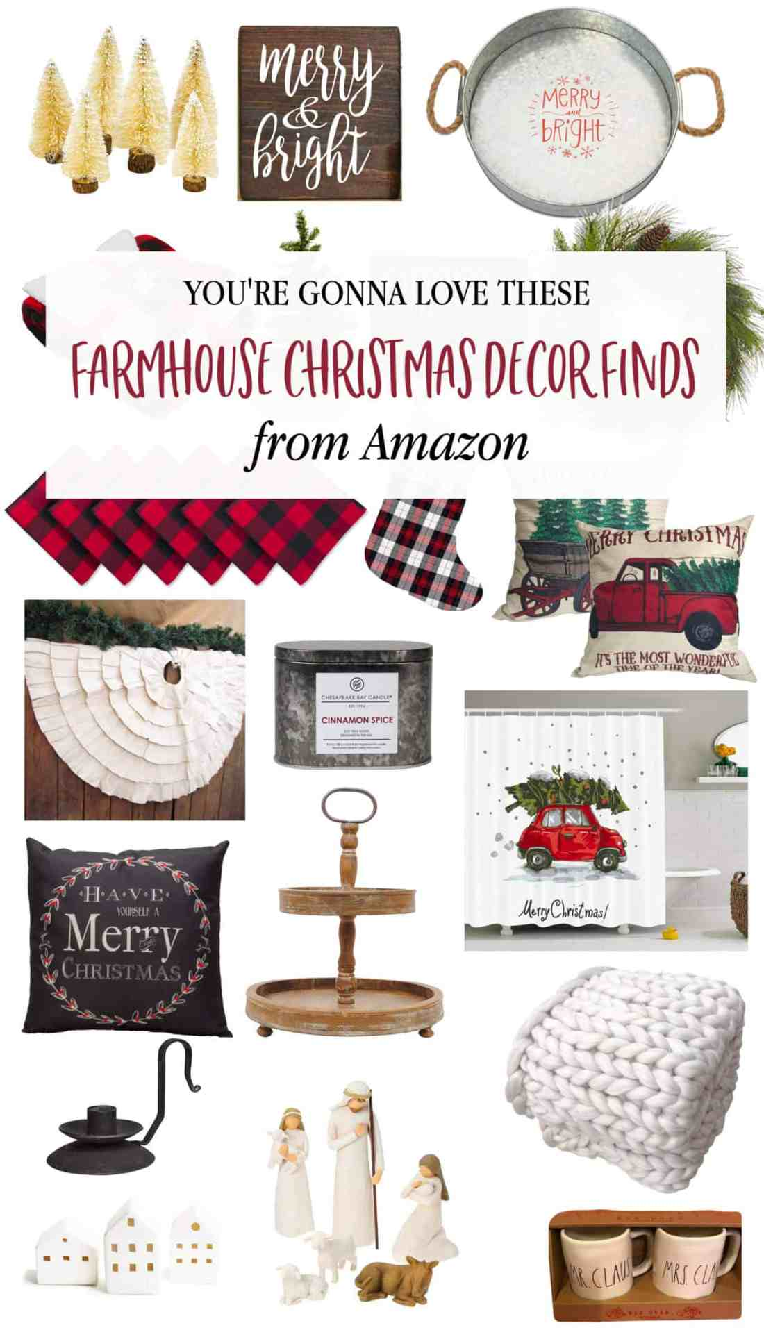 farmhouse christmas decor amazon pin