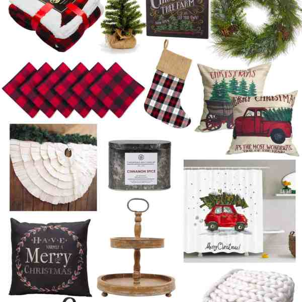 farmhouse christmas decor amazon