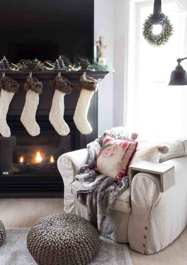 11 DIY Farmhouse Christmas Stockings to Make and Hang on Your Mantel This Year!