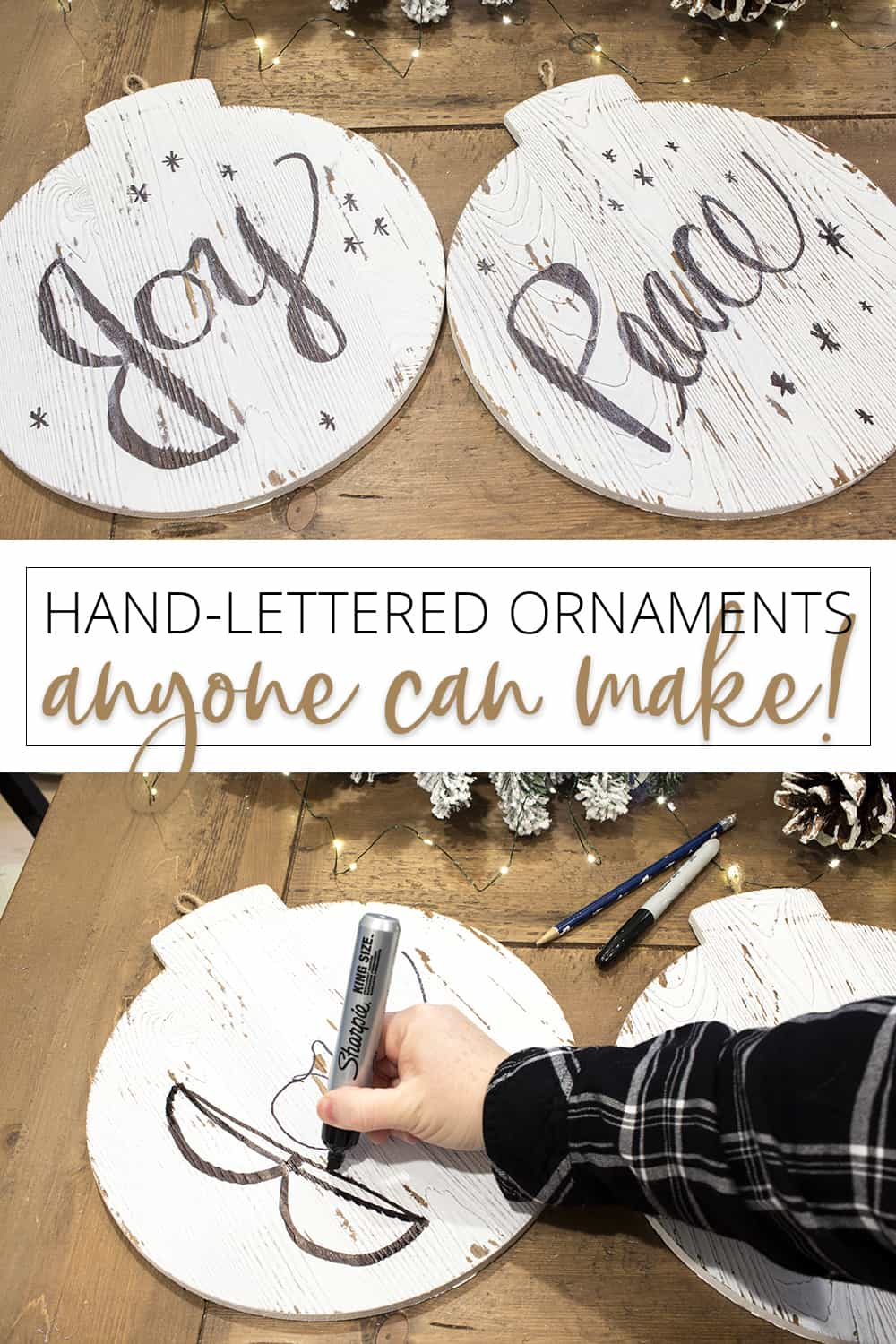 hand-lettered ornaments anyone can make