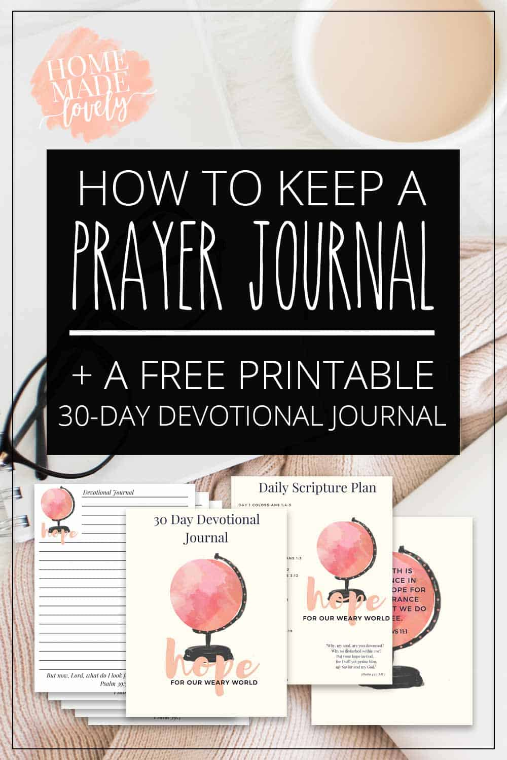 graphic regarding Printable Bible Devotions for Kids titled How toward Continue to keep a Prayer Magazine + a Totally free Printable 30-Working day