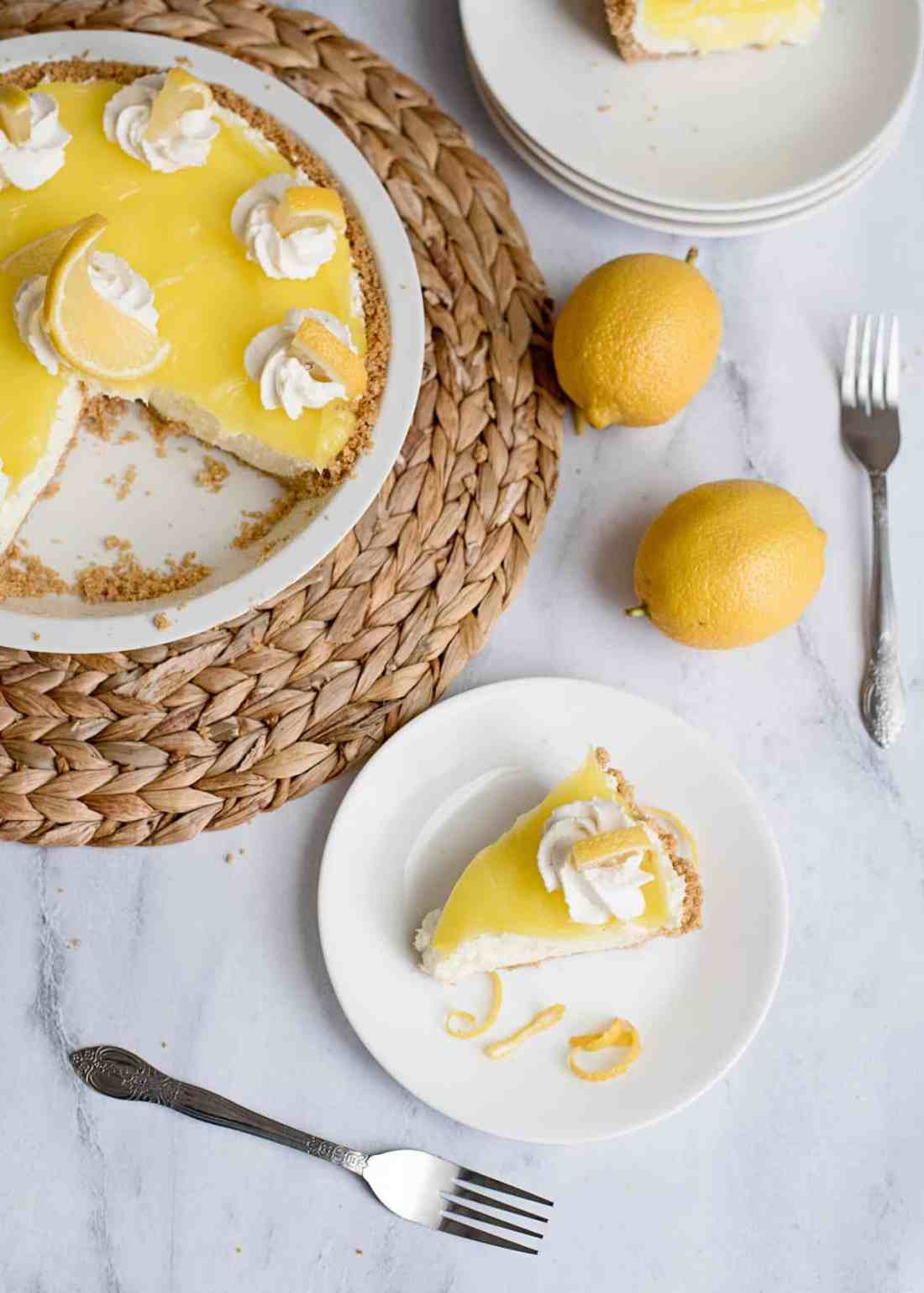 Lemon Cream Pie with Graham Cracker Crust Recipe. Can be made gluten and dairy free too!