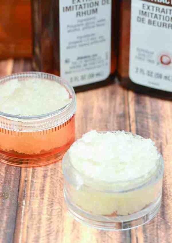 Honey Butter Rum Homemade Lip Scrub