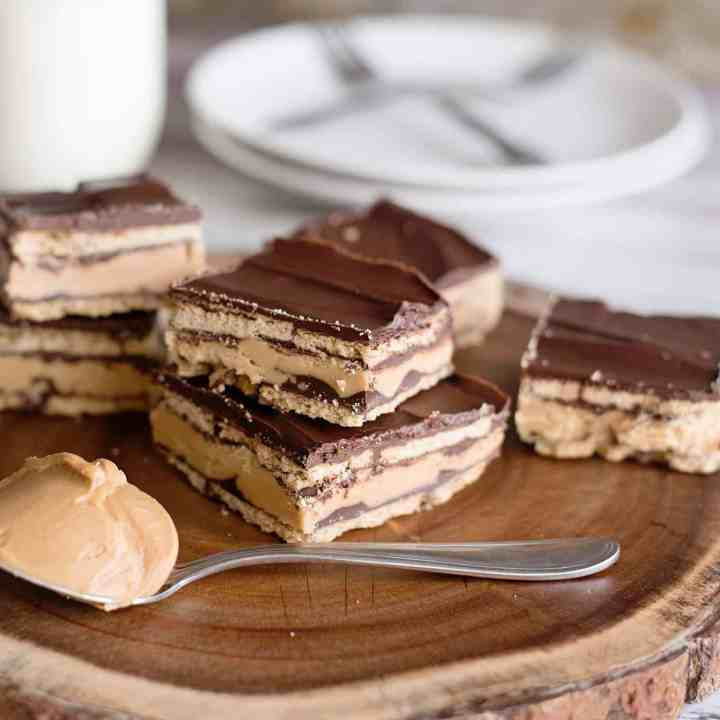 No-Bake Peanut Butter Patty Bars