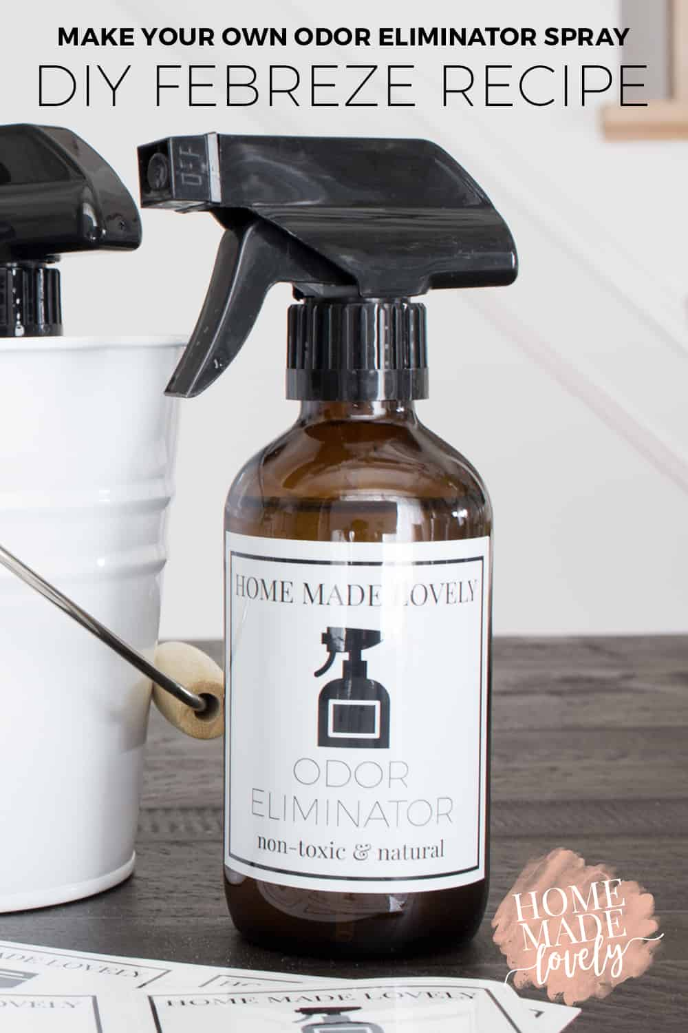 Stinky teenagers? Smelly sports equipment? Here's how to make your own odor eliminator spray or DIY Febreze recipe!