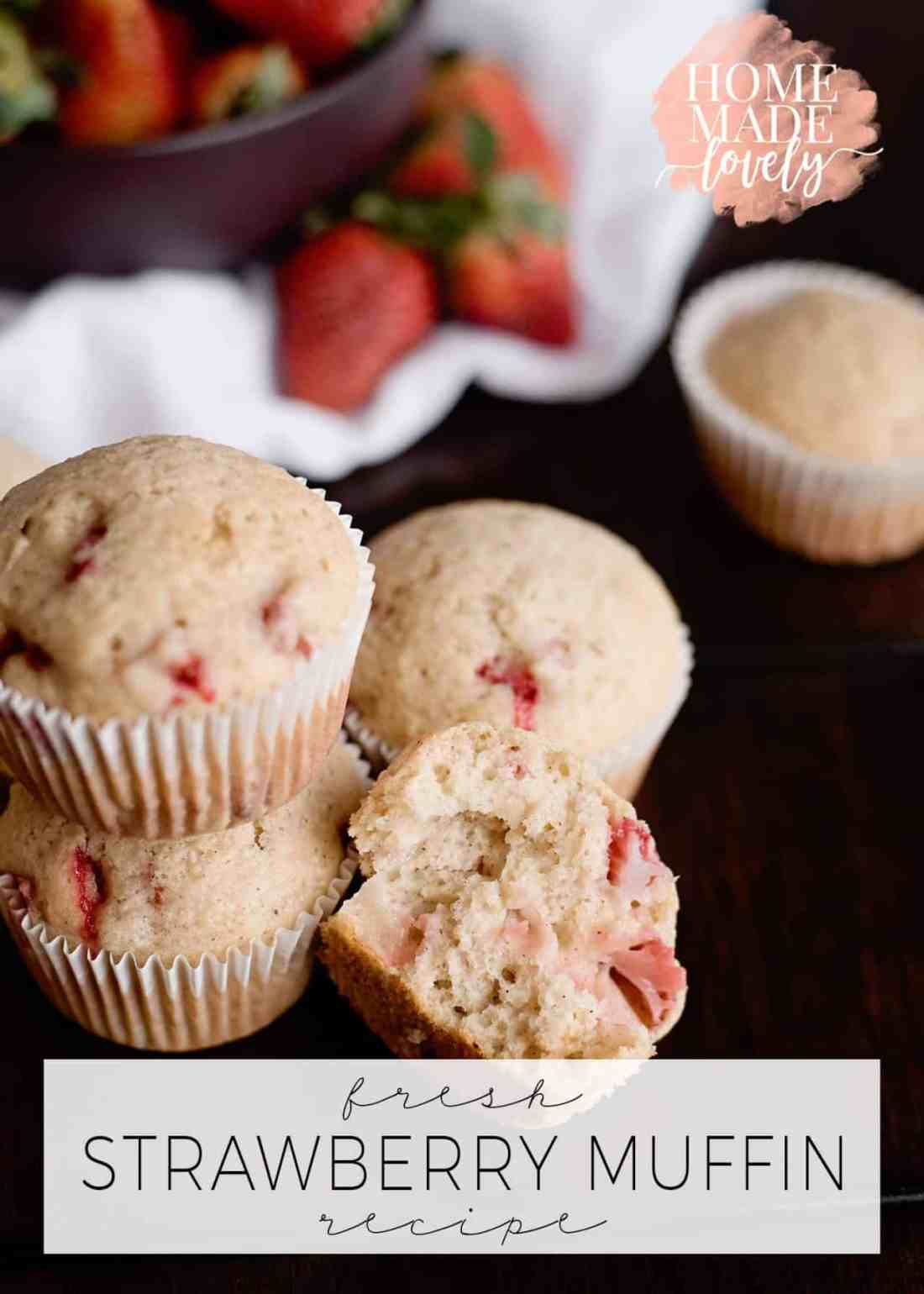 There's nothing quite like fresh, homemade baked goods. And this fresh strawberry muffin recipe is perfect for National Strawberry Month (which is May) or anytime!