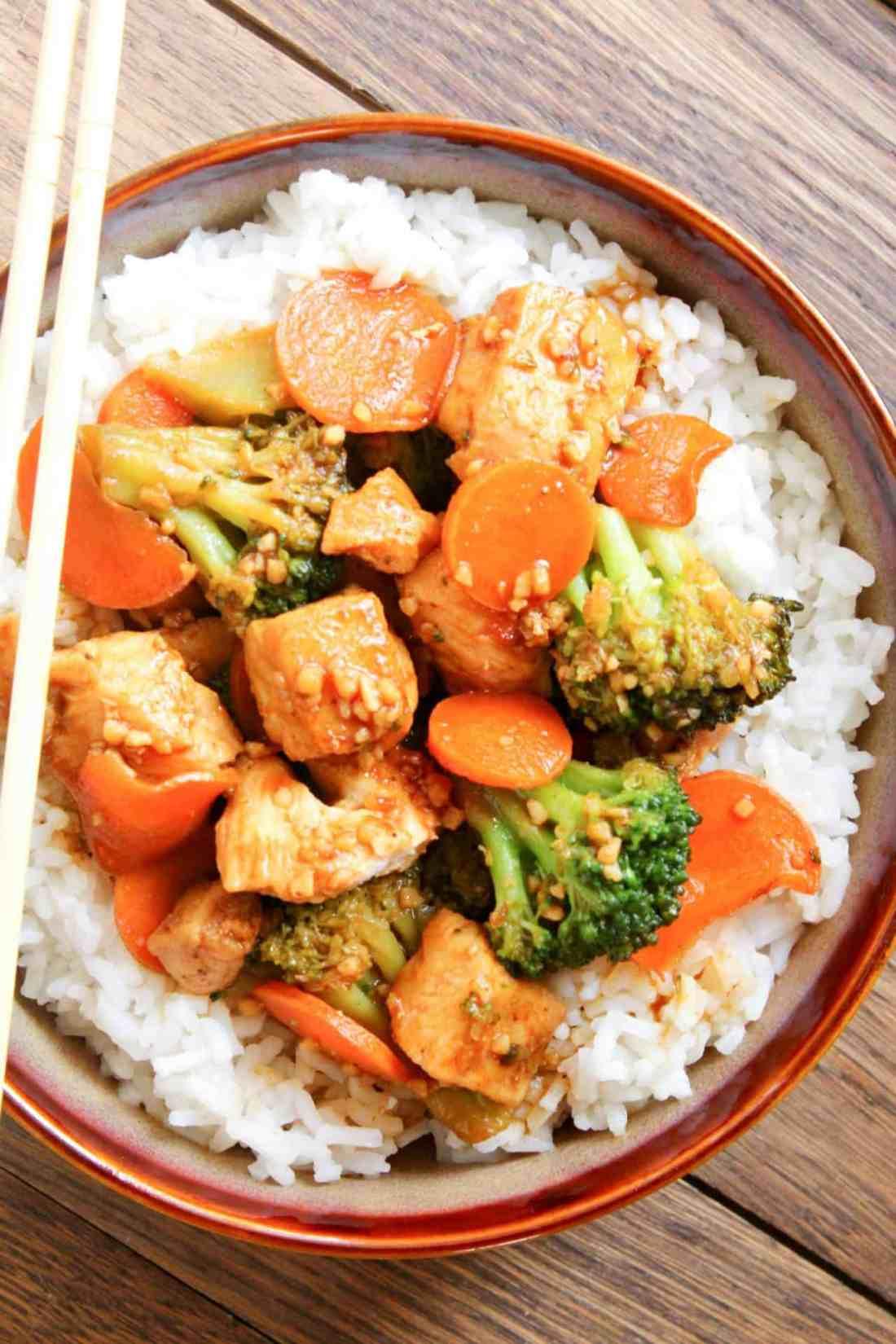 Honey Garlic Chicken Stir Fry With Broccoli  Carrots-3051