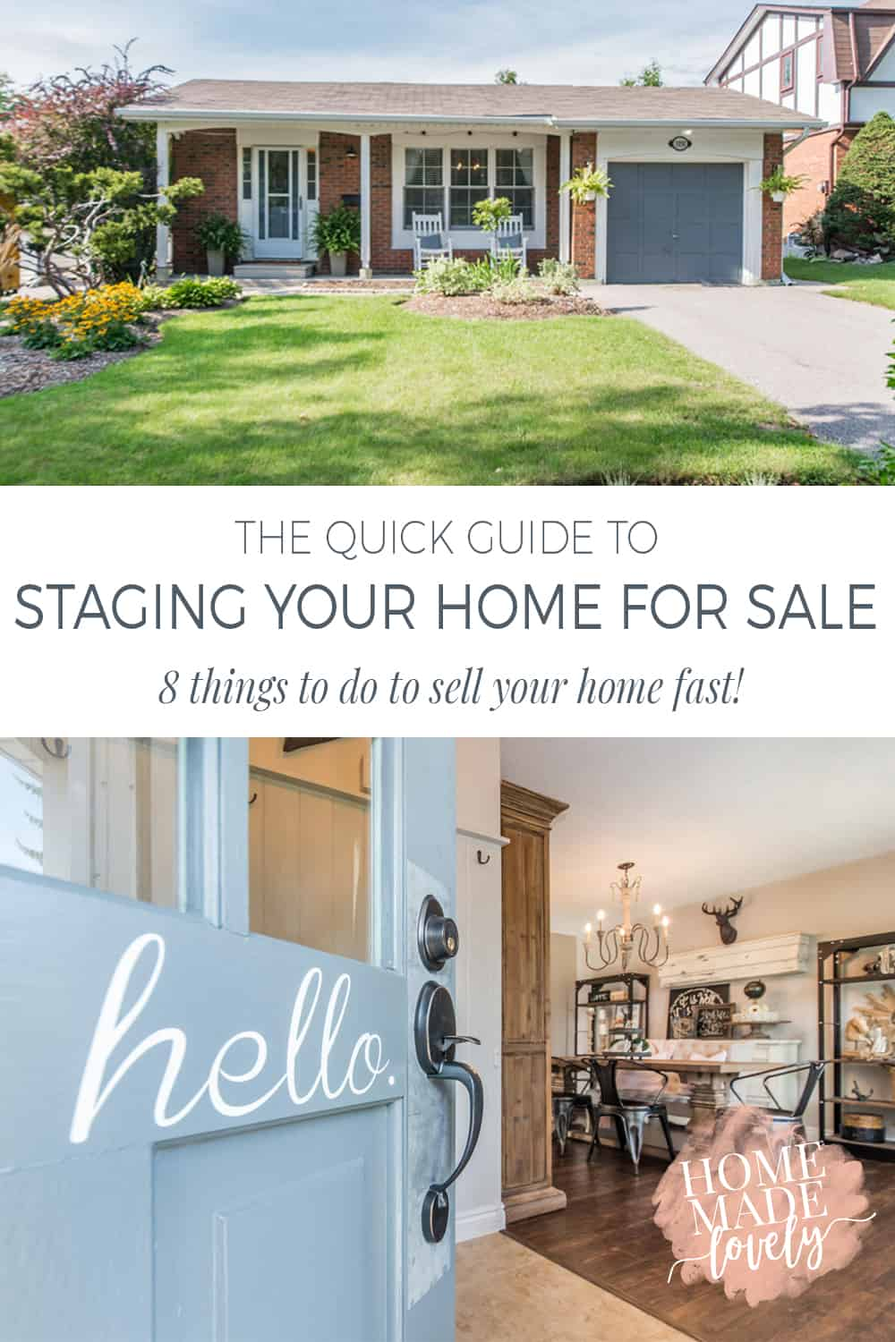 Do you want to make the most money possible from the sale of your home? Do you want to sell your home fast too? Here are 8 tips for staging your home for sale that will help you to sell your home fast!