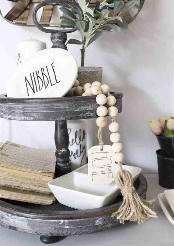 DIY Wood Bead Garland with Tassels & Tag – Perfect for Boho or Farmhouse Decor
