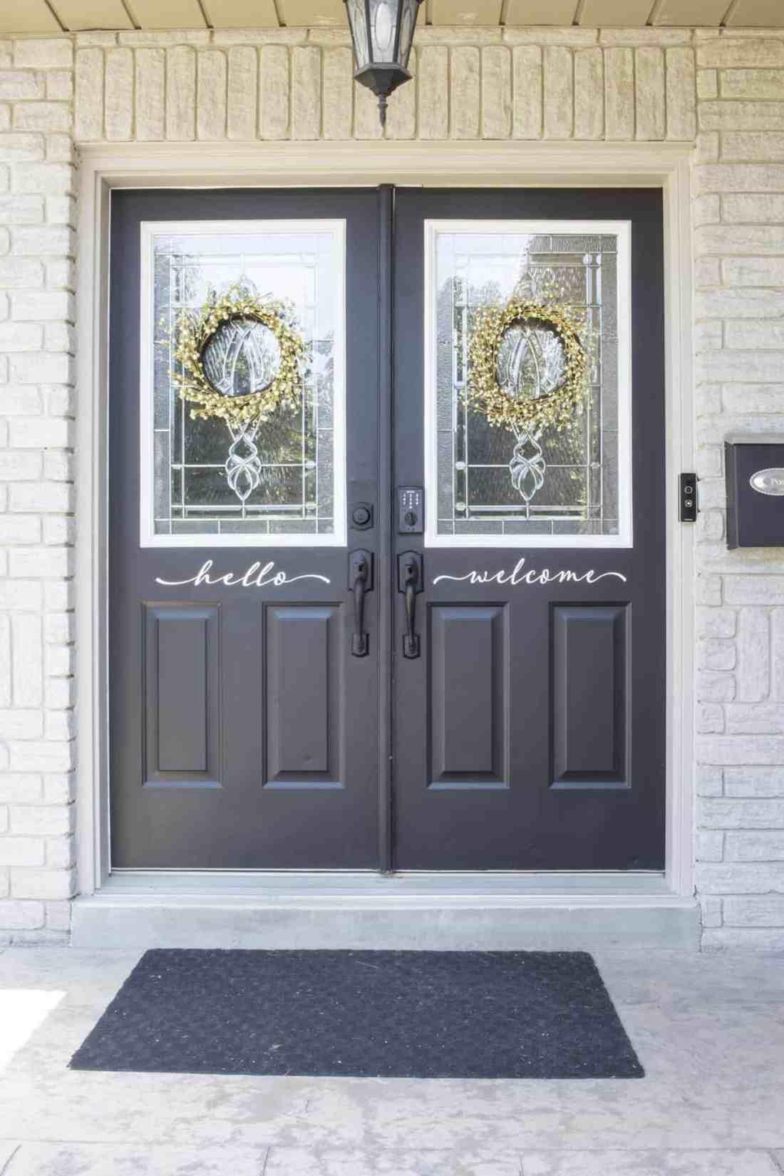 front door trim after