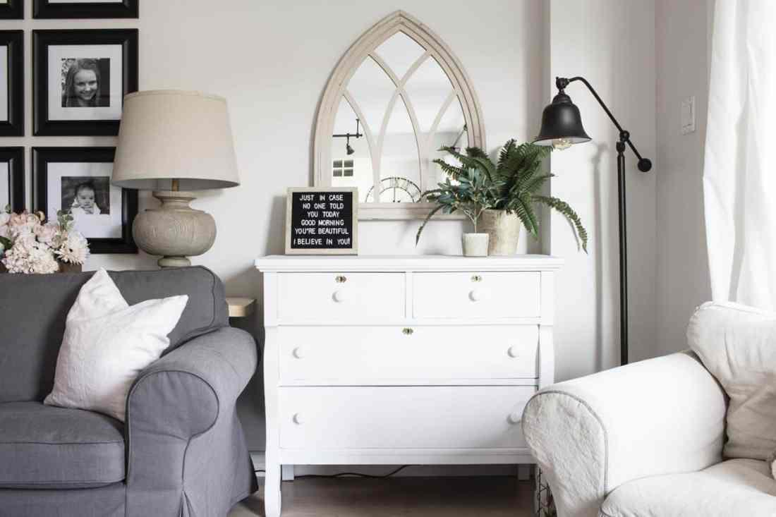 home made lovely living room dresser