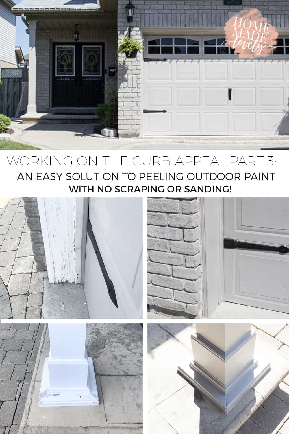 Older homes can have a lot of peeling paint if the wood trim has been exposed to the elements. Here's an easy solution to peeling outdoor paint!