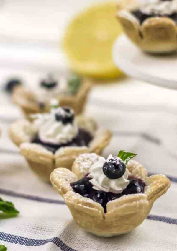 Blueberry Flower Tarts – The Cutest Little Treat!