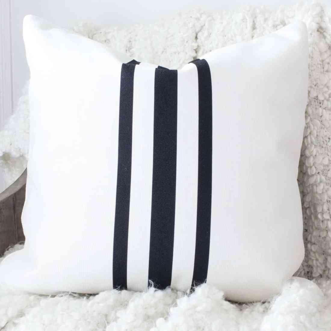 grain sack stripe throw pillow cover