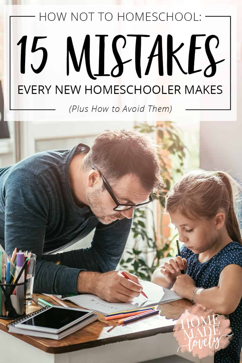 mistakes every new homeschooler makes pin