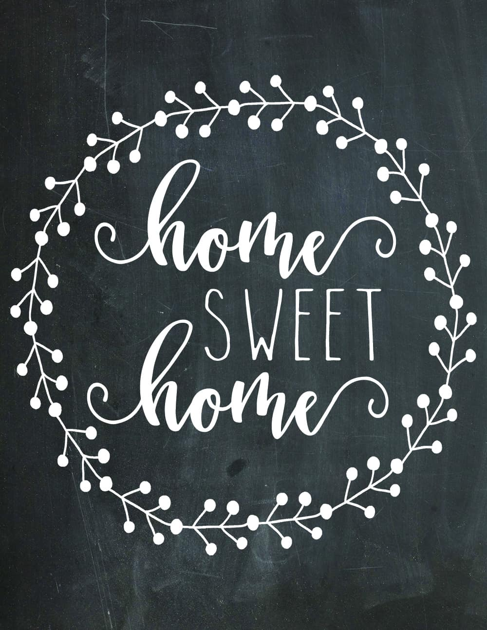 photo relating to Free Chalkboard Printable known as Down load This Totally free Dwelling Cute Property Chalkboard Printable Listed here Presently