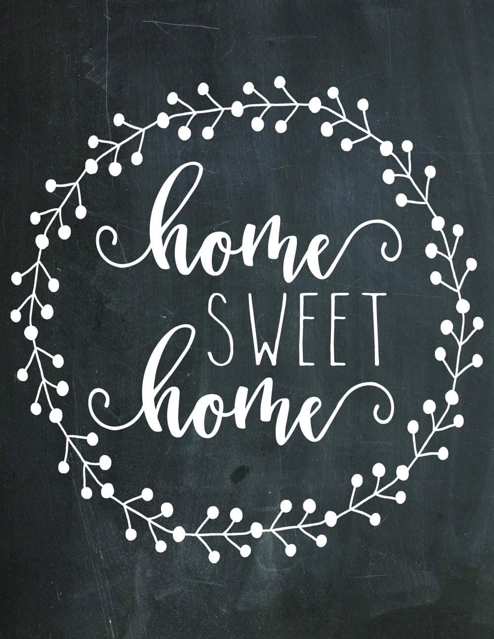 home sweet home printable