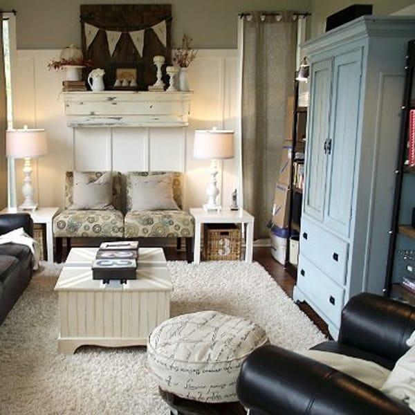 War Era Bungalow Living Room