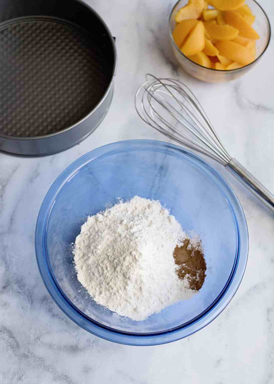 peach coffee cake dry ingredients