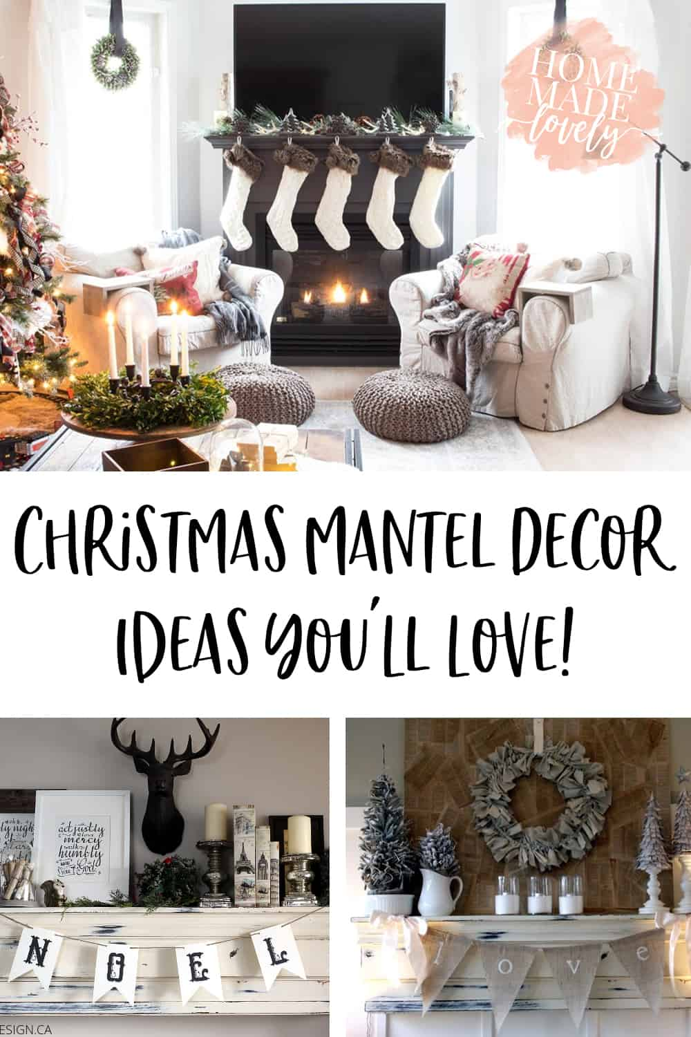 Christmas Mantel Ideas You'll Love pin