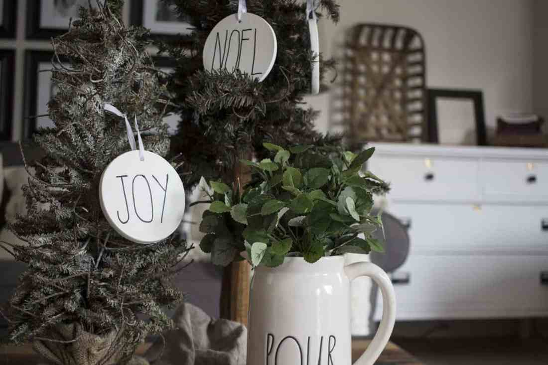 DIY Rae Dunn Christmas Ornaments