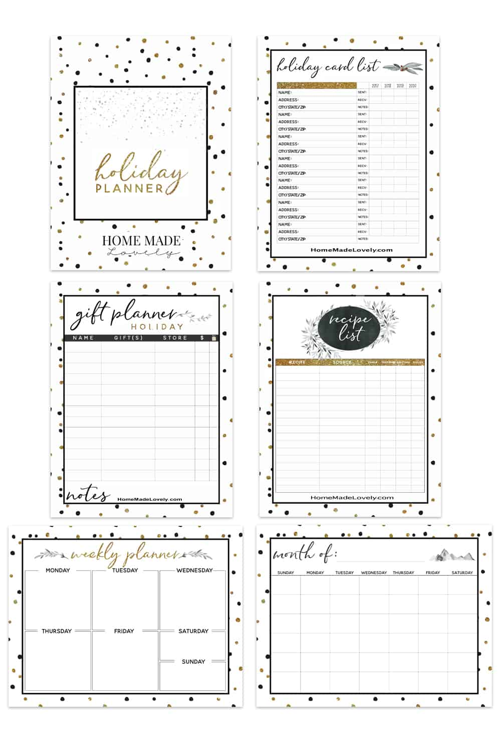 Free Holiday Planner Pack 23 Free Printable Pages To Plan Christmas