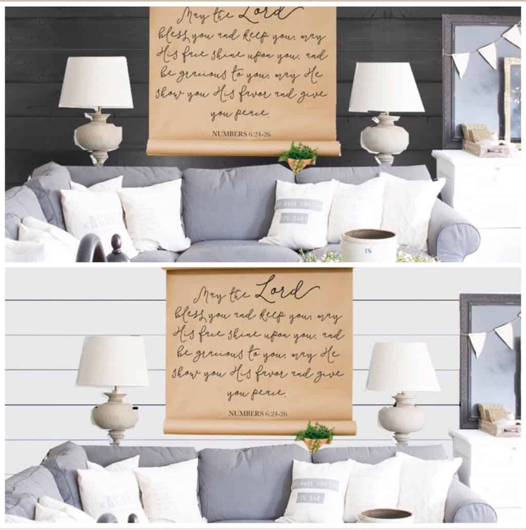 IG poll white or black shiplap