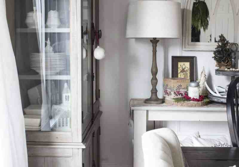dining room hutch and sideboard for Christmas
