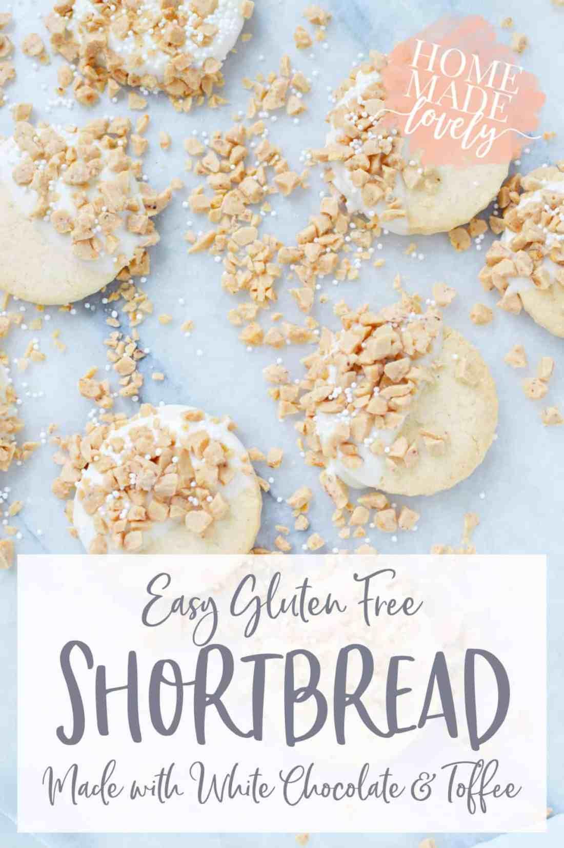 gluten free shortbread cookies pin