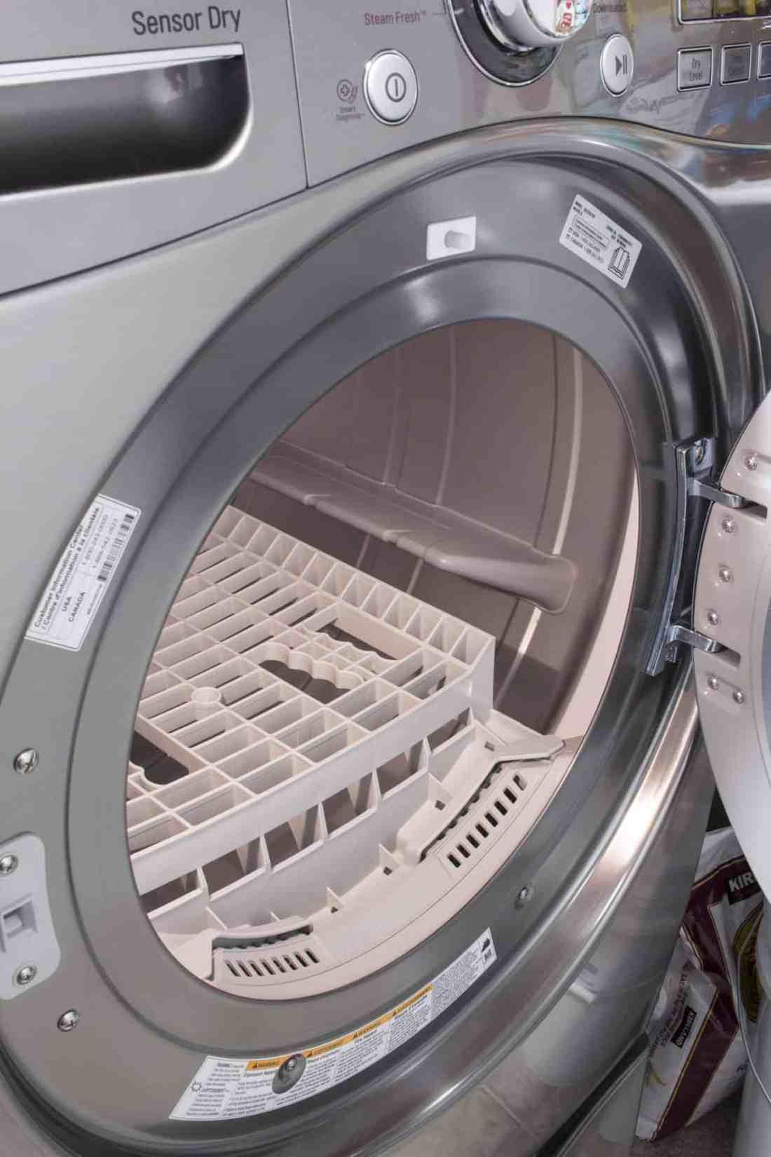 drying rack inside dryer