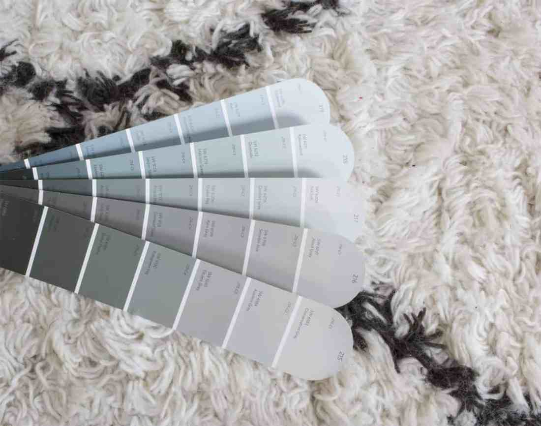 paint swatches colored