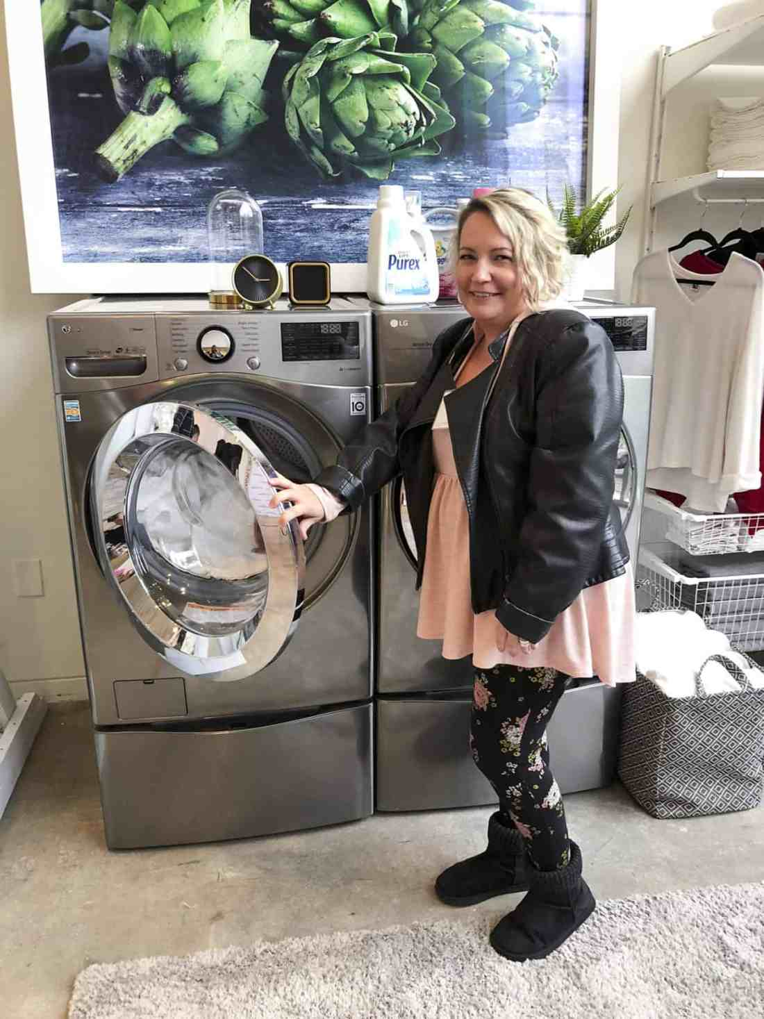 shannon with LG TWINWash machines