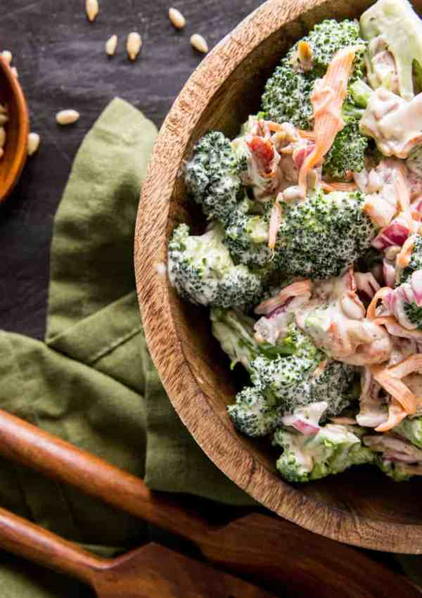 How to Make Crunchy Broccoli Salad with Bacon