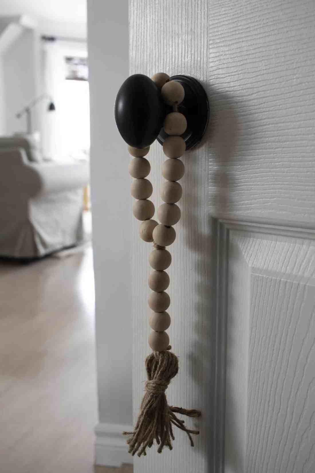 door knob hanger on door lr in background