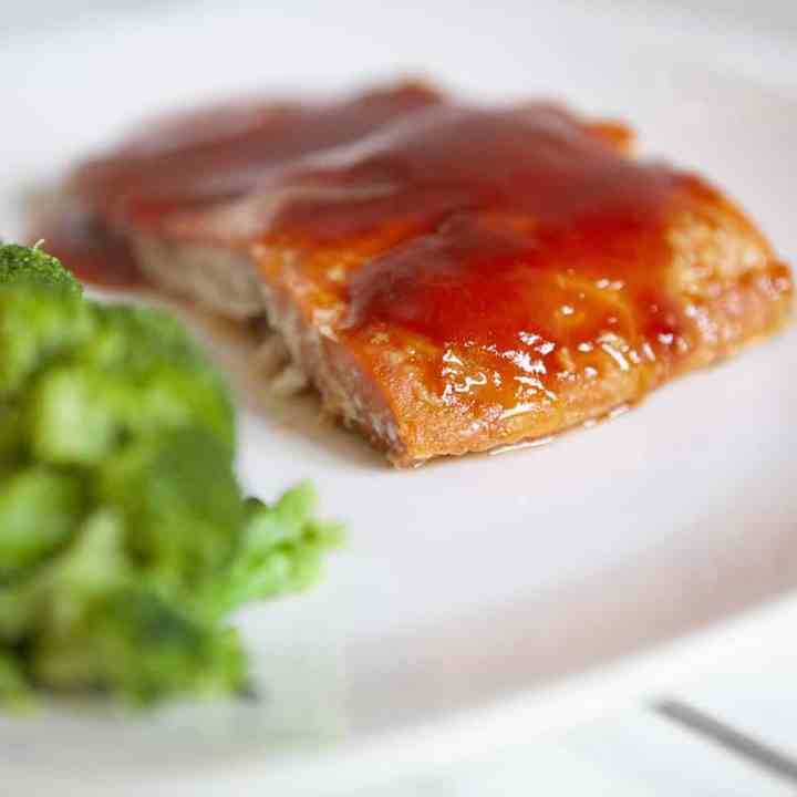 Gluten Free Honey BBQ Baked Salmon