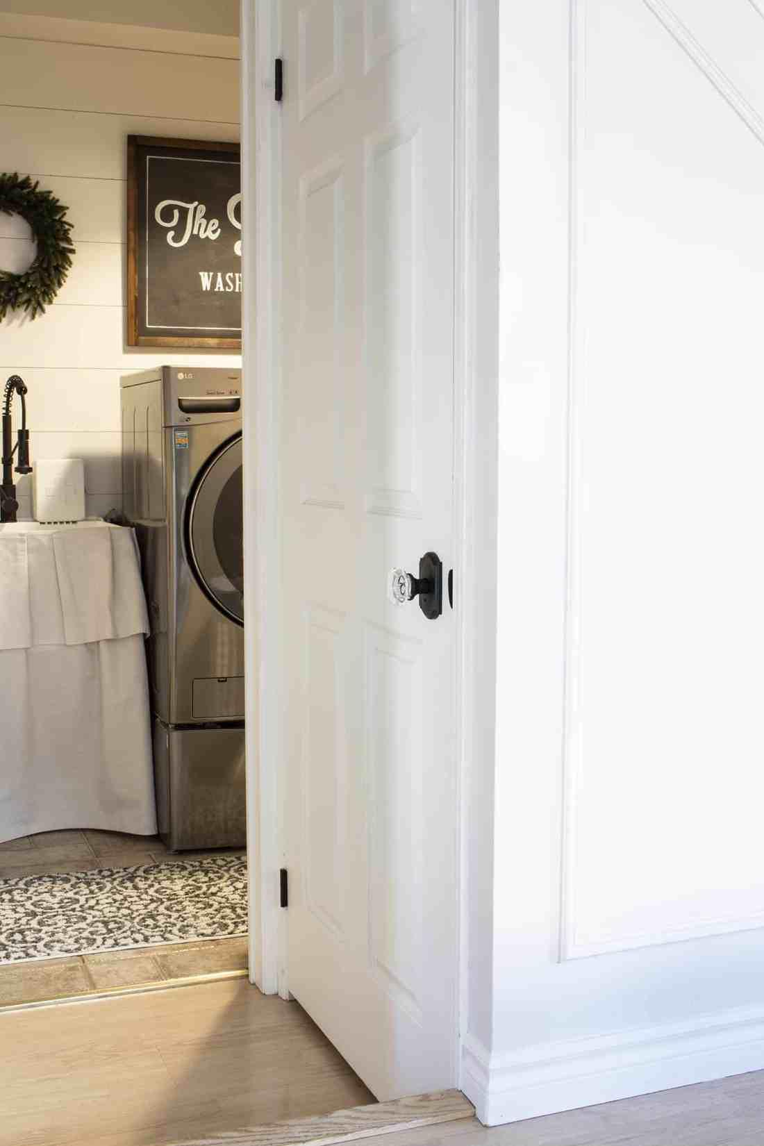 basement door with new Schlage Custom Hardware knob