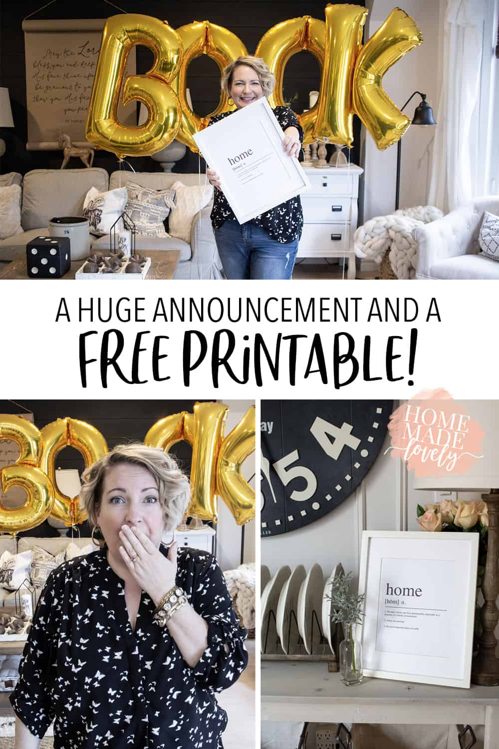 I've been keeping a secret from you...I'm writing a book! And I created a free printable for you, to celebrate! Woohoo!!!