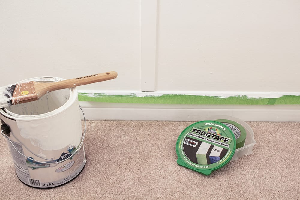 frogtape protecting baseboard