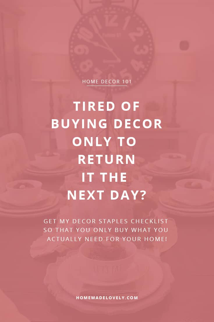 decor staples checklist