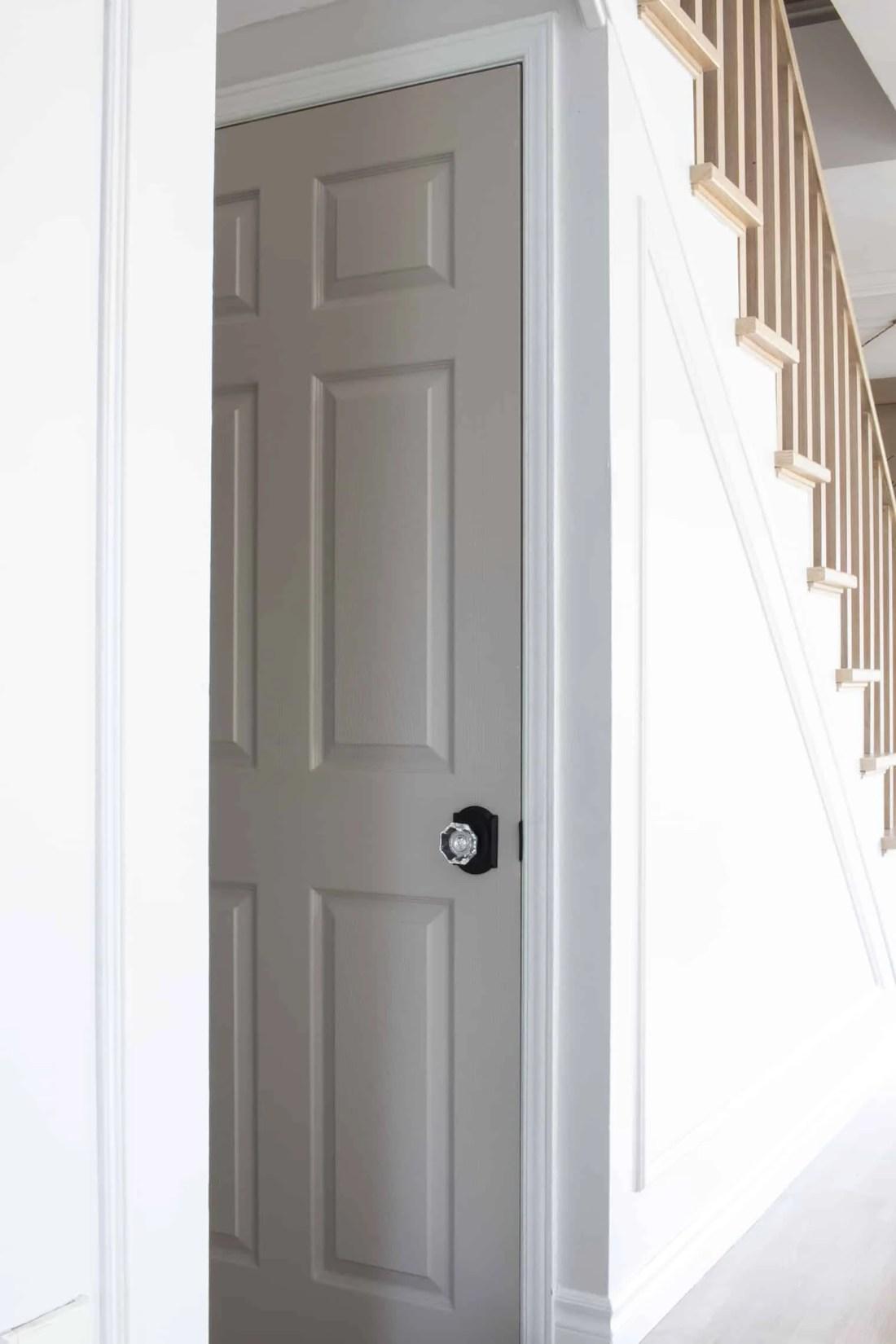 Basement Door Painted