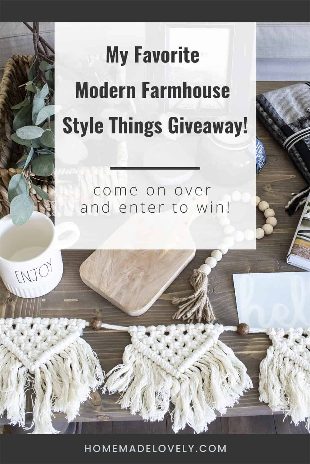 Modern Farmhouse Finds Giveaway pin