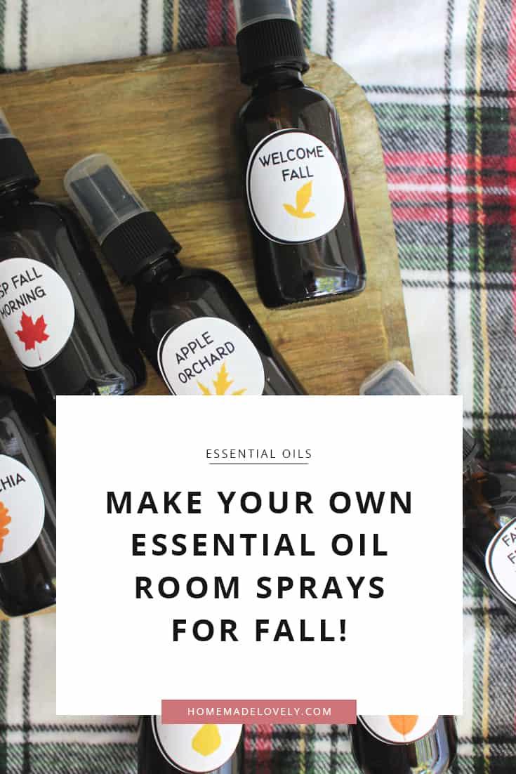 DIY essential oil room sprays for fall