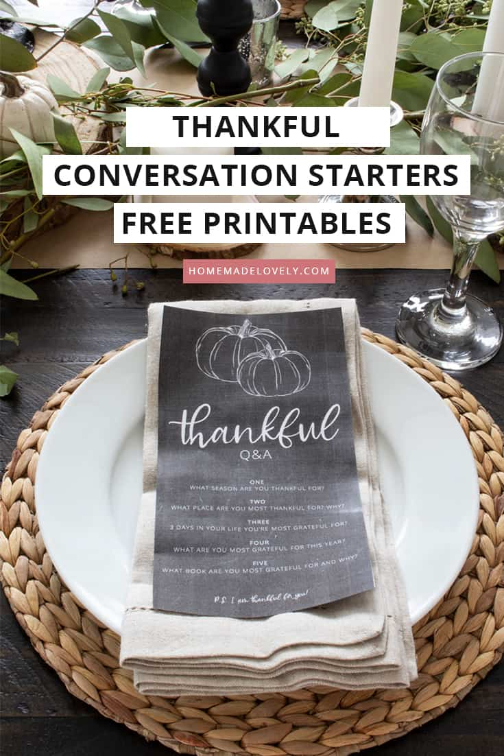 free printable conversation starters on table setting for fall