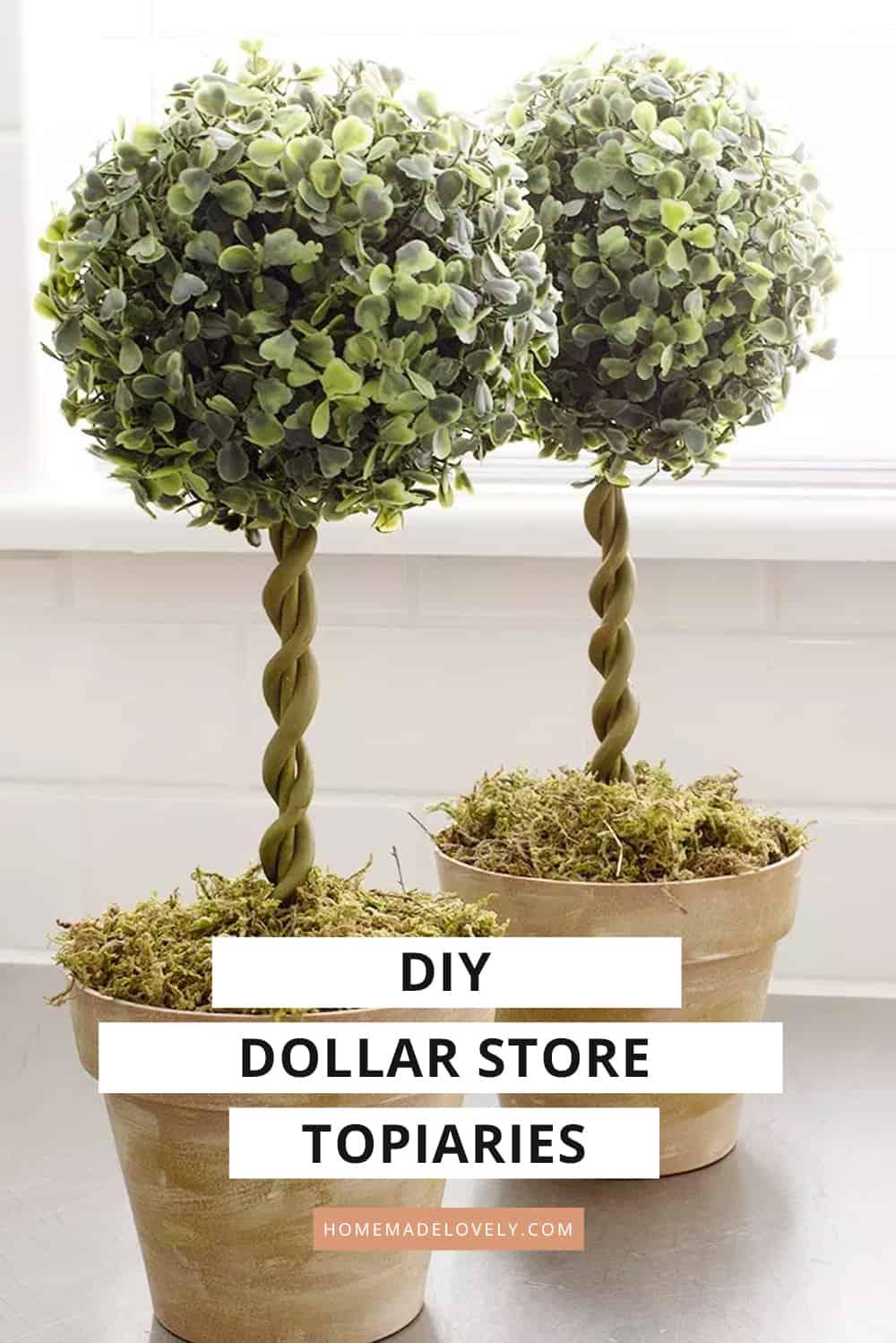 diy topiary trees dollar store