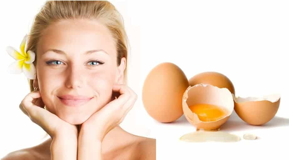 Facial mask with eggs or milk
